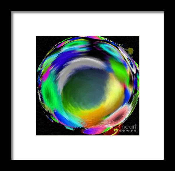 Abstract Art Framed Print featuring the digital art Soloist Whirlwind by Brenda L Spencer