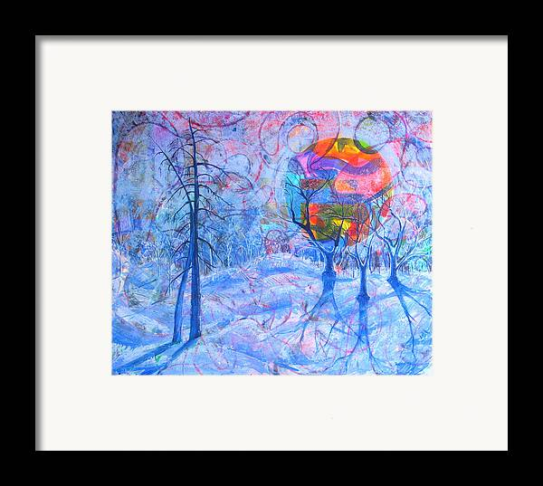 Winter Framed Print featuring the painting Solstice by Rollin Kocsis