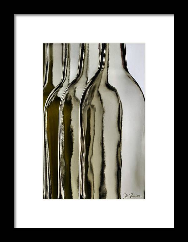 Bottle Framed Print featuring the photograph Somber Bottles by Joe Bonita