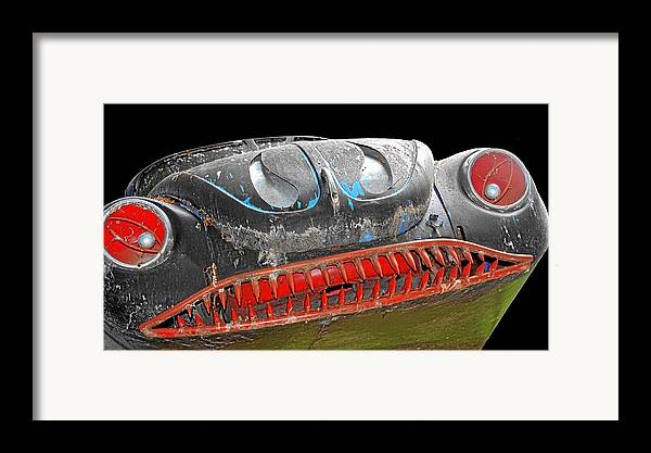 Horror Cars Framed Print featuring the photograph Some Cars Are Born Bad by Christine Till