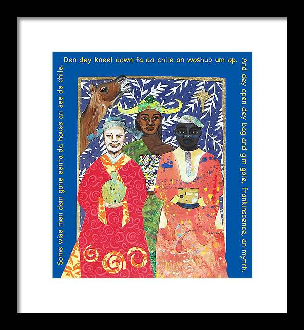 Wise Men Framed Print featuring the painting Some Wise Men Dem by Natalie Daise