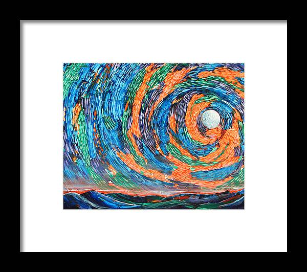 Skyscape Framed Print featuring the painting Something Always Happens by Rollin Kocsis