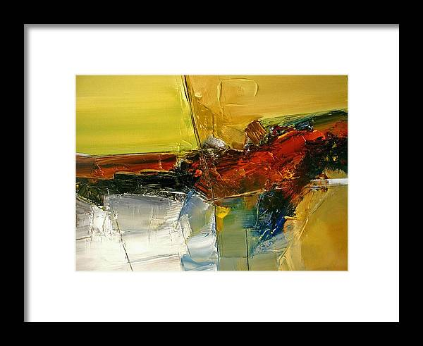 Abstract Framed Print featuring the painting Something Always Lies Beneath Or Above by Stefan Fiedorowicz