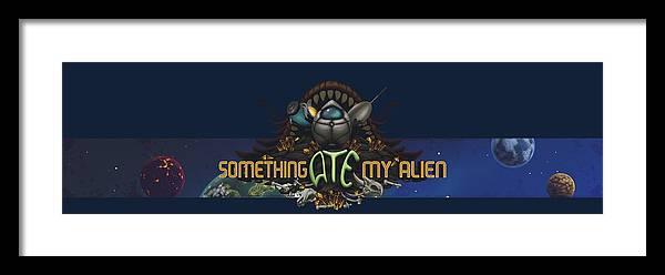 Video Game Framed Print featuring the digital art Something Ate My Alien #3 by RoKabium Games