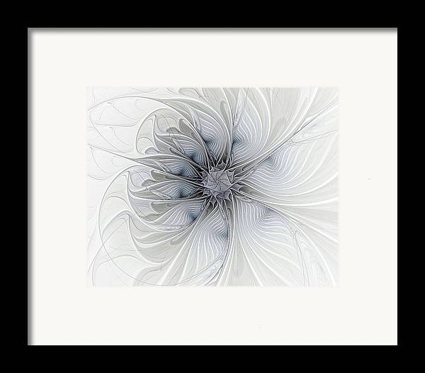 Digital Art Framed Print featuring the digital art Something Blue by Amanda Moore