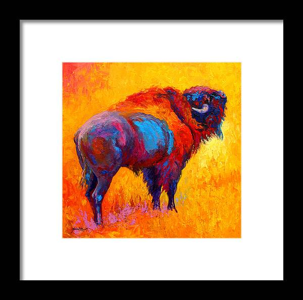 Wildlife Framed Print featuring the painting Something In The Air by Marion Rose