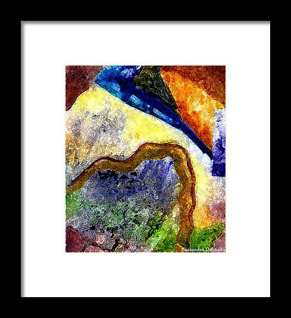 Creative Passages Framed Print featuring the digital art Something New by Cassandra Donnelly