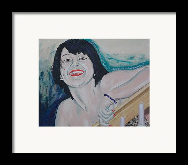 Kevin Callahan Framed Print featuring the painting Something On Her Mind by Kevin Callahan