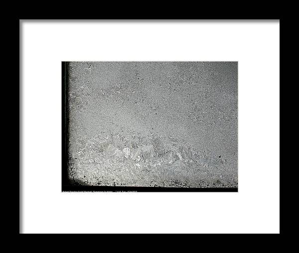 Sometimes-in-winter Framed Print featuring the photograph ''sometimes In Winter.....'' No.10, Tue--15jan2013 by Robert 'Standing Eagle'