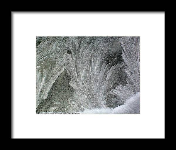 Sometimes-in-winter Framed Print featuring the photograph ''sometimes In Winter.....'' No.15, Mon--5dec2011 by Robert 'Standing Eagle'