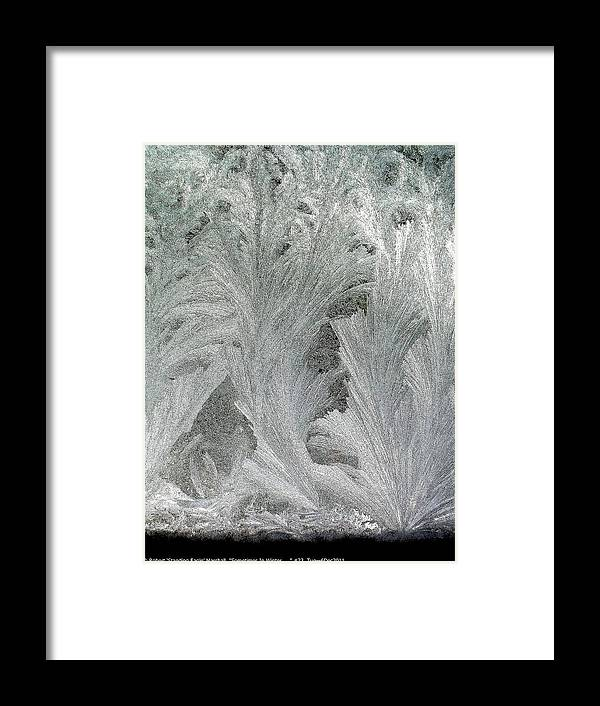 Sometimes-in-winter Framed Print featuring the photograph ''sometimes In Winter.....'' No.23, Tue--6dec2011 by Robert 'Standing Eagle'