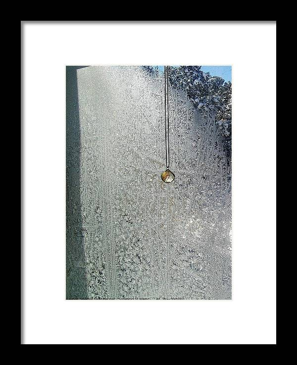 Sometimes-in-winter Framed Print featuring the photograph ''sometimes In Winter.....'' No.6, Thu--3feb2011 by Robert 'Standing Eagle'