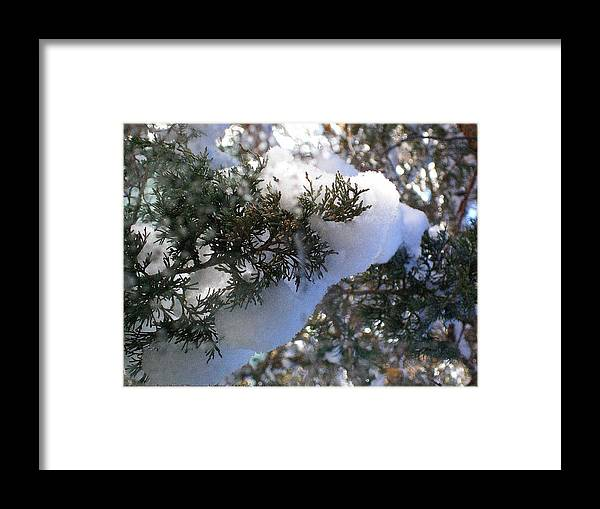 Sometimes-in-winter Framed Print featuring the photograph ''sometimes In Winter.....'' No.7, Tue--15jan2013 by Robert 'Standing Eagle'