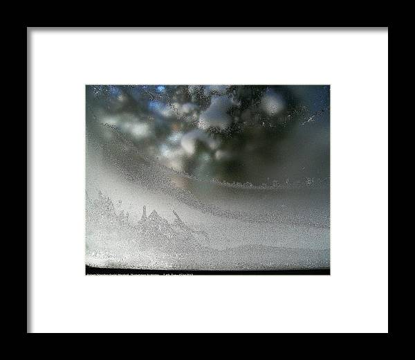 Sometimes-in-winter Framed Print featuring the photograph ''sometimes In Winter.....'' No.9, Tue--15jan2013 by Robert 'Standing Eagle'