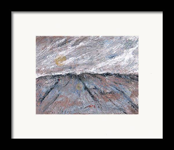 Mountains Framed Print featuring the painting Somewhere Higher by Rollin Kocsis