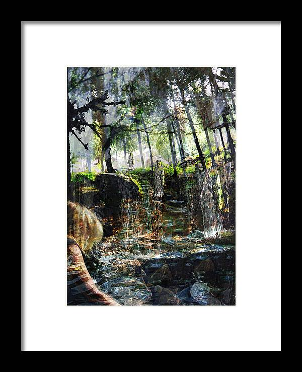 Forest Framed Print featuring the mixed media Somewhere In Time by Xavier Carter