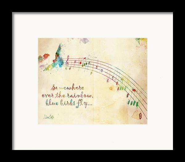 Rainbow Framed Print featuring the digital art Somewhere Over The Rainbow by Nikki Smith