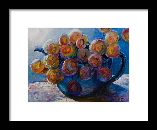 Flowers Framed Print featuring the painting Song Of Flowers by Jeremy Holton