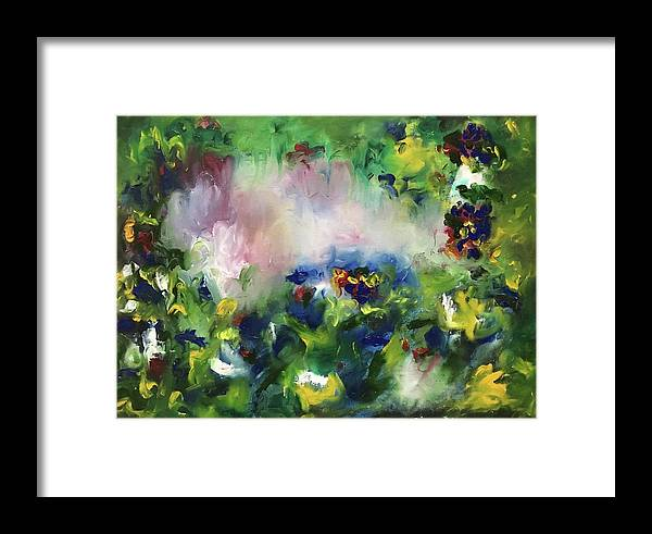 Mixed Media Framed Print featuring the painting Song Of Life by Shelja Garg