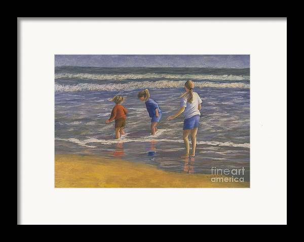 Beach Framed Print featuring the painting Song Of Praise by Mary Erbert