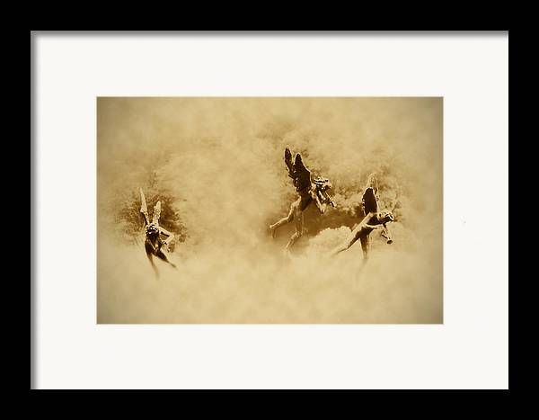Angels Framed Print featuring the photograph Song Of The Angels In Sepia by Bill Cannon