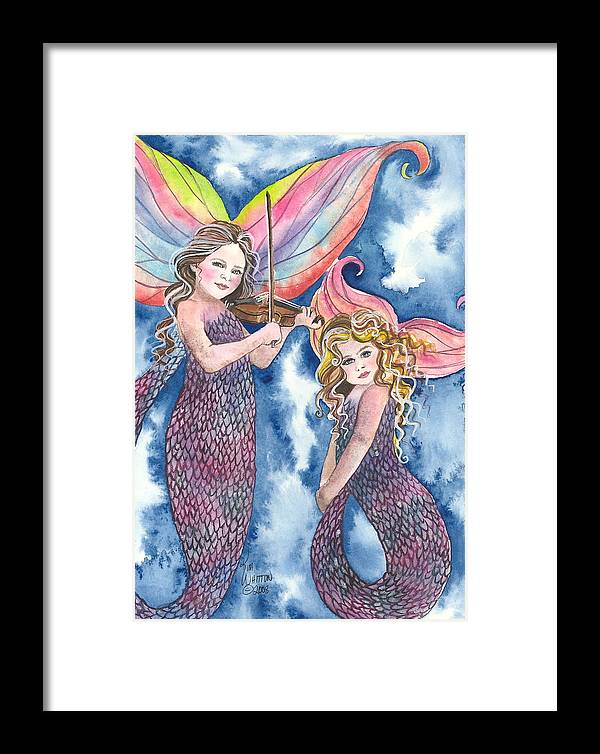 Fantasy Framed Print featuring the painting Song Of The Sirens by Kim Sutherland Whitton