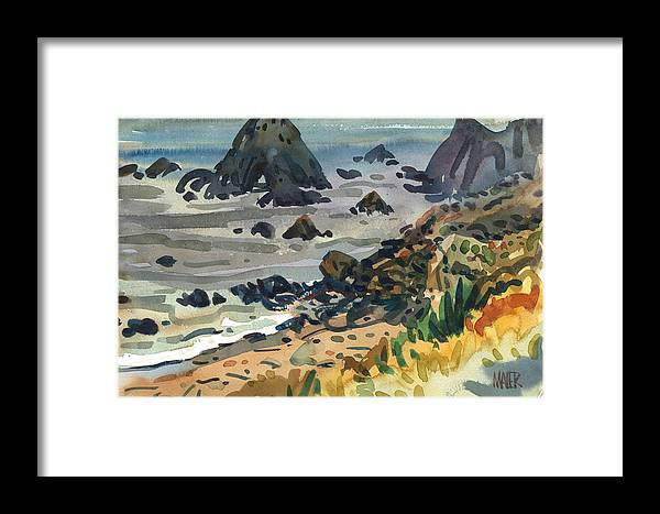 Plein Air Framed Print featuring the painting Sonoma Coast by Donald Maier