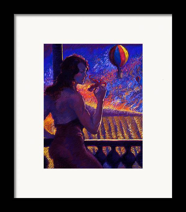 Sonoma Framed Print featuring the painting Sonoma Sunrise by Ellen Dreibelbis