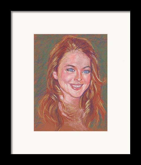 Portrait Framed Print featuring the painting Sonrisa Sutil by Horacio Prada