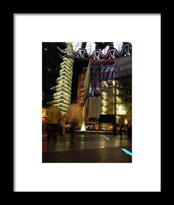 Sony Center Framed Print featuring the photograph Sony Center by Flavia Westerwelle