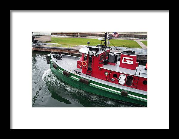 Tugboat Framed Print featuring the photograph Soo Tug Boat by Jennifer Englehardt