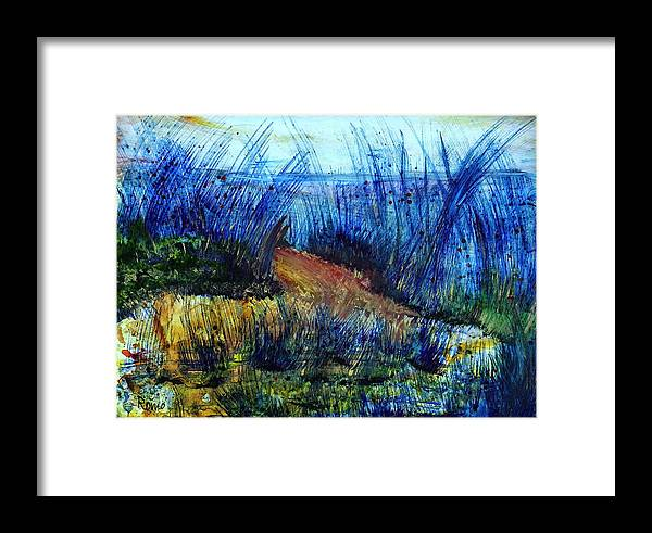 Landscape Framed Print featuring the painting Soothing Path by Robin Monroe