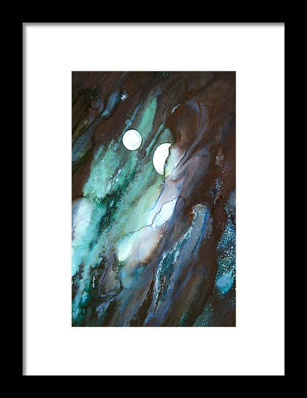 Abstract Framed Print featuring the painting Soothing Sensations - B - by Sandy Sandy