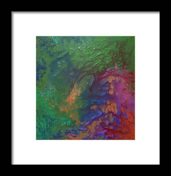 Green Framed Print featuring the painting Sophia by Jess Thorsen