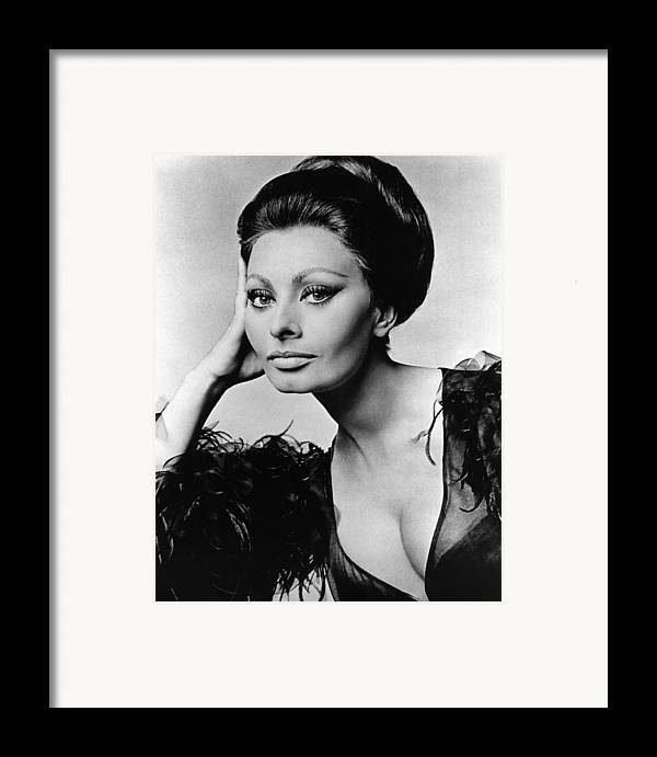 1960s Framed Print featuring the photograph Sophia Loren, In Costume For Arabesque by Everett