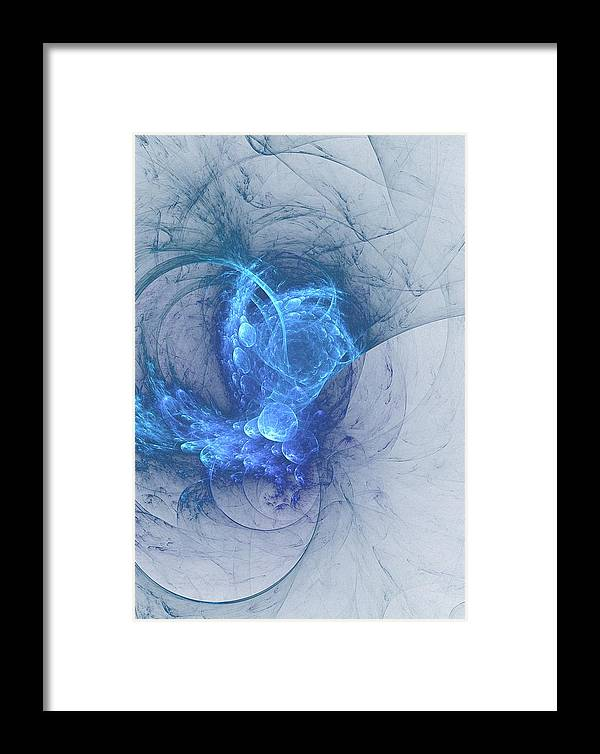 Blue Framed Print featuring the digital art Sorching Blue Heaven by John Pirillo