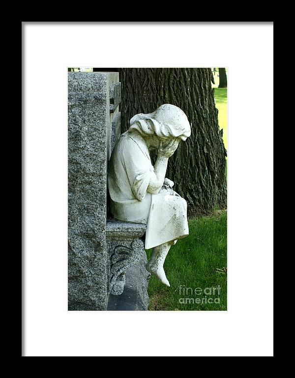Cemetery Framed Print featuring the photograph Sorrow by Valerie Fuqua