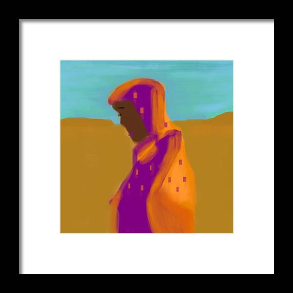 Desert Framed Print featuring the digital art Sorrowful Mother Of The Past And Present by Joan Ellen Gandy