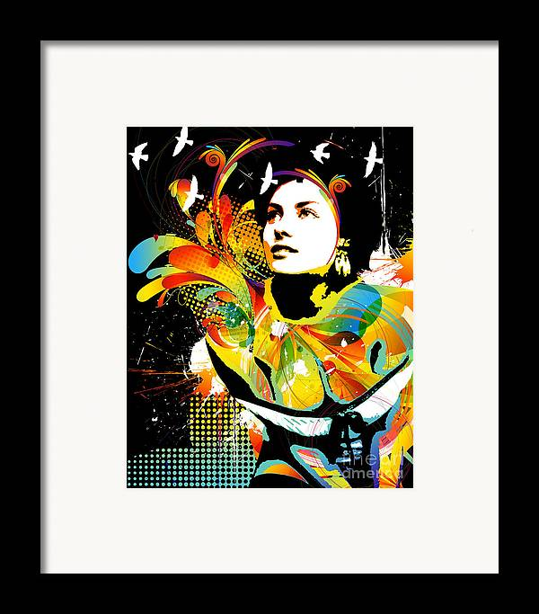 Nostalgic Seduction Framed Print featuring the digital art Soul Explosion II by Chris Andruskiewicz