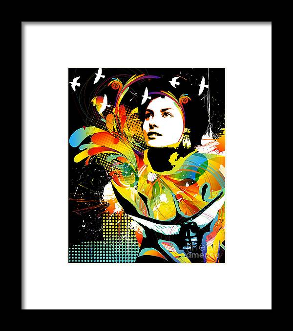Nostalgic Seduction Framed Print featuring the mixed media Nostalgic Seduction - Soul Explosion II by Chris Andruskiewicz