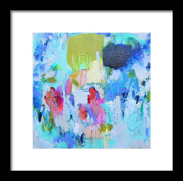 Abstract Framed Print featuring the painting Soul Feeling by Claire Desjardins