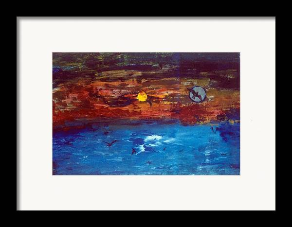 Soul Framed Print featuring the glass art Soul Journey.. by Rooma Mehra
