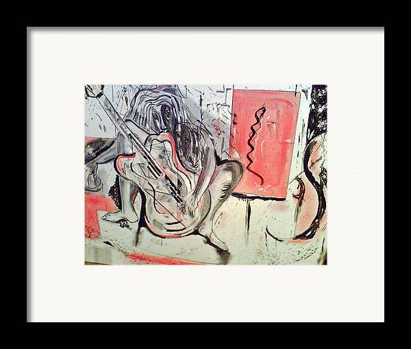 Abstract Framed Print featuring the painting Soul Mate by DC Campbell