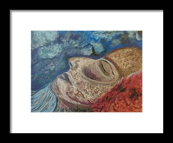 Face Framed Print featuring the painting Soul Mate by Joely Balazs