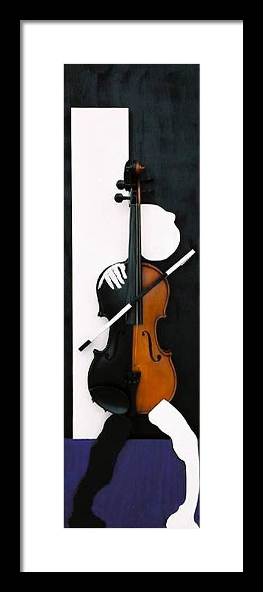 Violin Framed Print featuring the sculpture Soul Of Music by Steve Karol