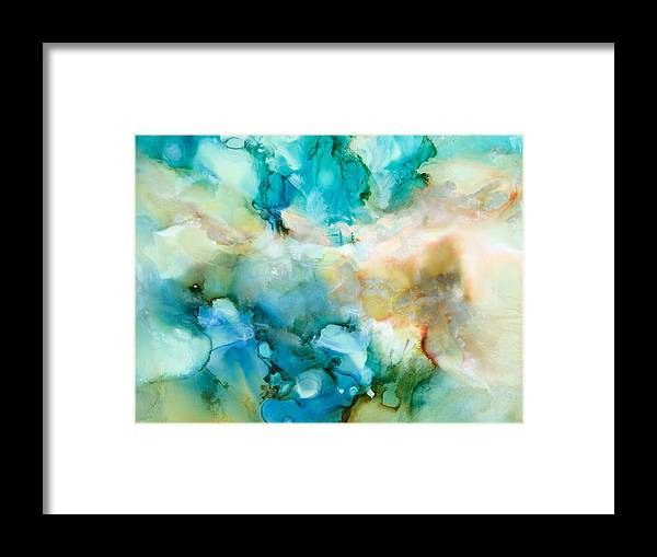 Abstract Framed Print featuring the painting Soul Searching - C - by Sandy Sandy