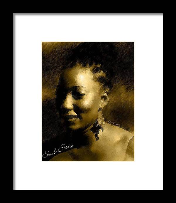 Portrait Framed Print featuring the photograph Soul Sista by LeeAnn Alexander