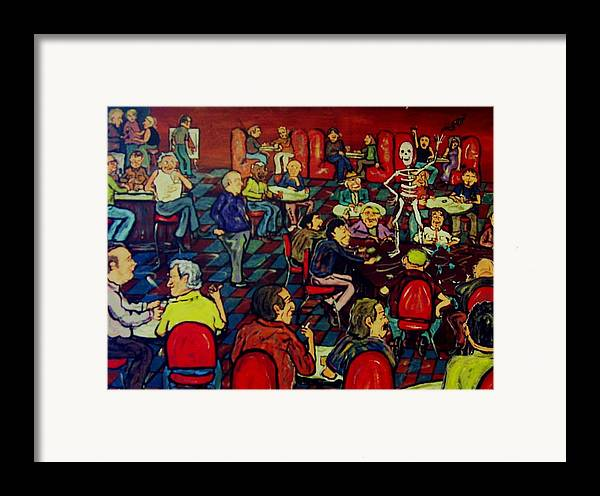 Strip Framed Print featuring the painting Soul Stripping by Richard Hubal