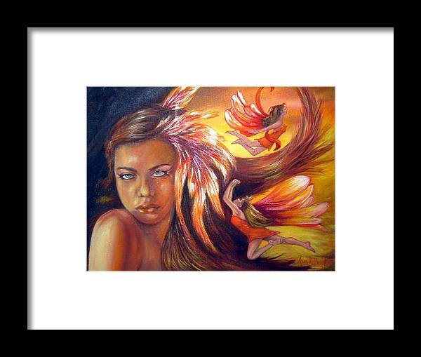 Framed Print featuring the painting Soulfire by Anne Kushnick
