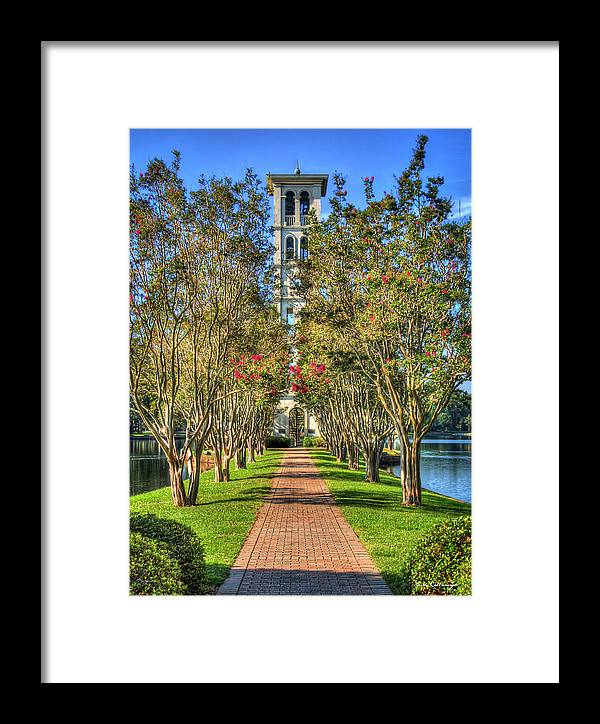 Reid Callaway Furman University Framed Print featuring the photograph Sounds Of Victory The Bell Tower Furman University Greenville South Carolina Art by Reid Callaway